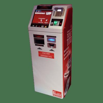 Automates en libre-service casinos CPS Système achat tickets TITO casinos
